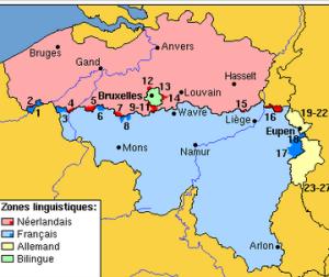 belgique - zones linguistiques
